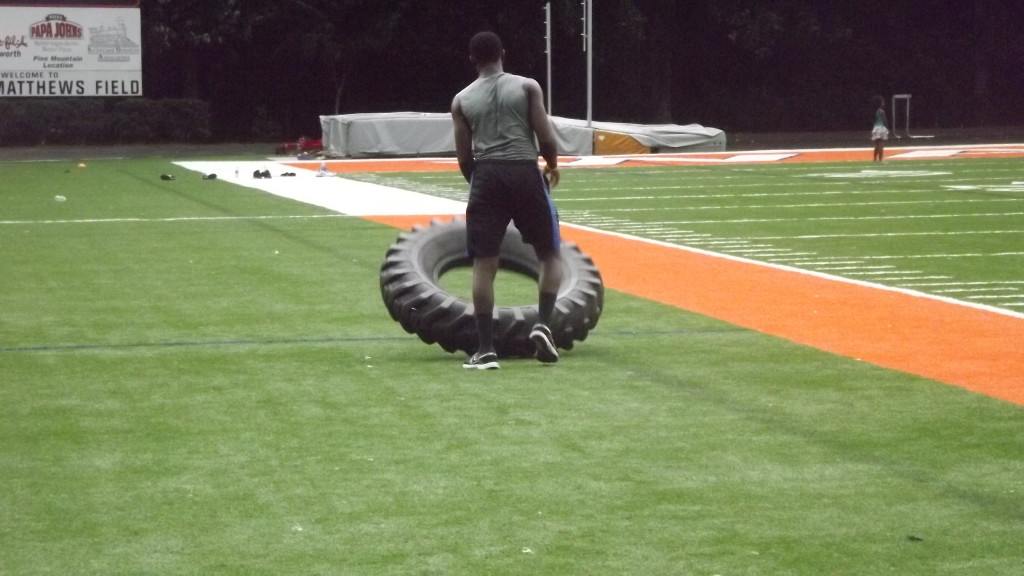 Jireh Flipping The Tire Training