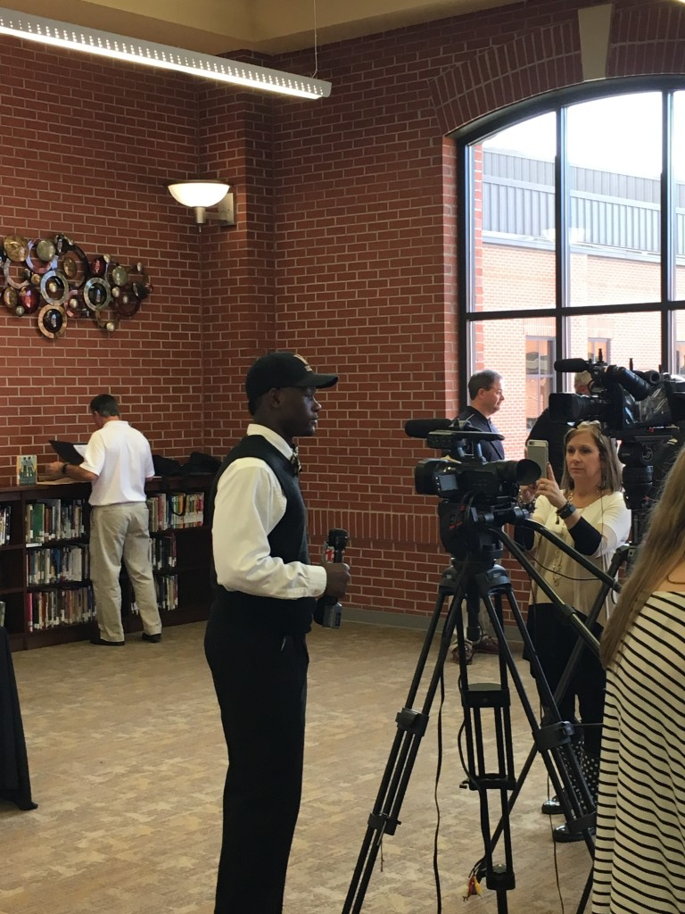 Jireh Being Interviewed By Local TV Stations